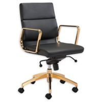 Zuo® Scientist Office Chair in Black/Gold