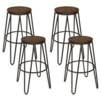 "Kate And Laurel® Metal Tully 30"" Bar Stool in Bronze (Set of 4)"