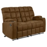 Prolounger® Upholstered Tight Back Loveseats in Brown(2 piece set)