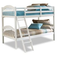 Storkcraft Long Horn Twin Bunk Bed in White