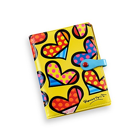 Britto™ by Giftcraft Heart Design Passport Cover Yellow