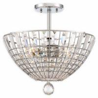 Minka Lavery Braiden 3-Light Semi-Flush Mount Light in Chrome