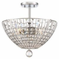 Minka Lavery Braiden 3-Light Semi-Flush Mount Light in Chrome