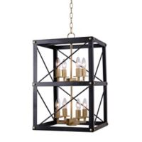 Kenroy Home Courtney 8-Light Chandelier in Black/Gold