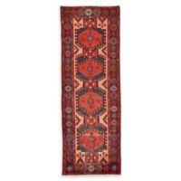 Feizy Rugs Antique Hamedan 3'5 x 9'10 Runner in Red/Navy