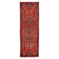 Feizy Rugs Antique Hamedan 3'7 x 10'4 Runner in Red/Navy/Beige