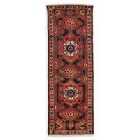 Feizy Rugs Antique Hamedan 3'6 x 10'1 Runner in Red/Navy/Ivory