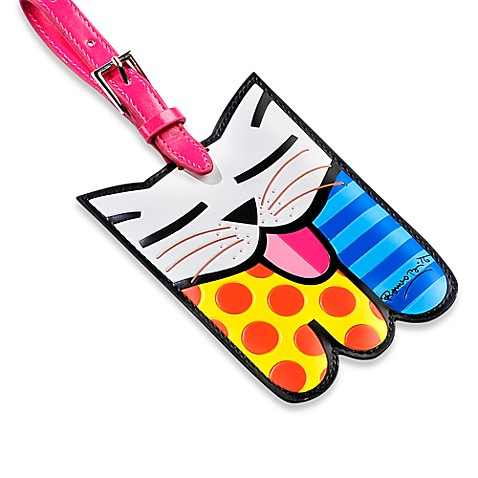 Britto™ by Giftcraft Animal-Shaped Luggage Tag in Cat