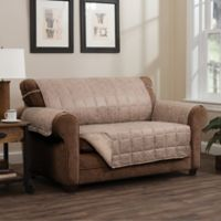 Brentwood Faux Leather Loveseat Protector in Natural