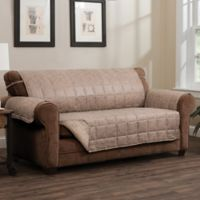 Brentwood Faux Leather Sofa Protector in Natural