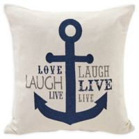Danya B.™ Nautical Anchor Square Throw Pillow in Ivory