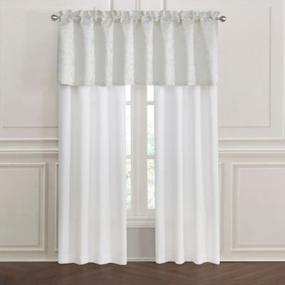 Lumina Rod Pocket Window Curtain Panel Pair In Ivory