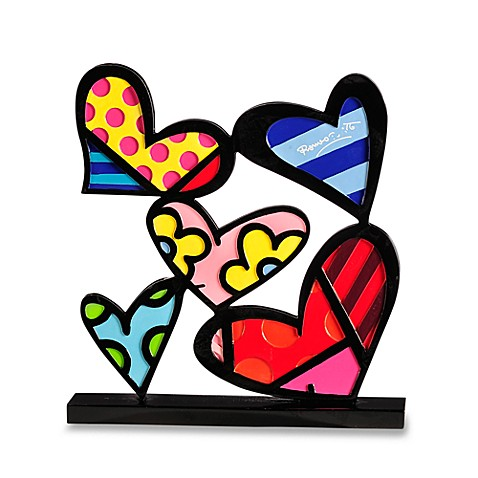 Britto™ by Giftcraft Heart Design Figurine with Certificate of Authenticity