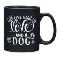 """Primitives by Kathy® """"And A Dog"""" Coffee Mug in Black"""