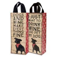 """Primitives by Kathy® """"Dogs And Wine"""" Wine Tote"""