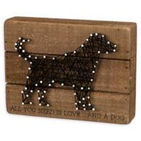 Primitives by Kathy® String Dog 6-Inch x 8-Inch Box Sign