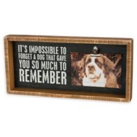 """Primitives by Kathy® """"So Much To Remember"""" Dog Inset Box 6-Inch x 4-Inch Frame"""