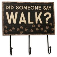 "Primitives by Kathy® ""Did Someone Say Walk?"" Wooden Hook Board"
