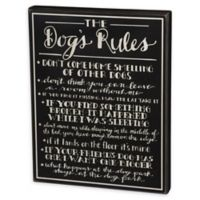 """Primitives by Kathy® """"Dog Rules"""" Wooden Box Sign"""