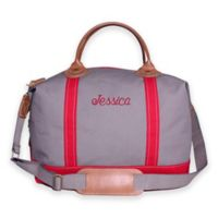 CB Station Weekender Bag in Gray/Red