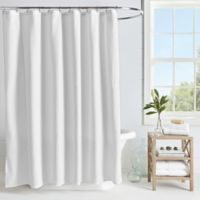 Microsculpt Arrow 54-Inch x 78-Inch Shower Curtain in White