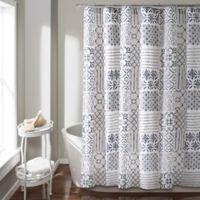 Monique Shower Curtain in Blue