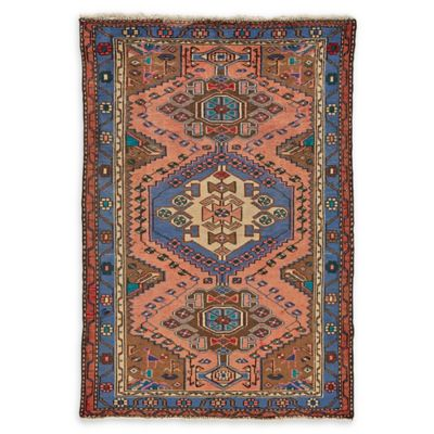 Feizy Rugs Antique Mousel 3 4 X 5 Area Rug In Blue Pink
