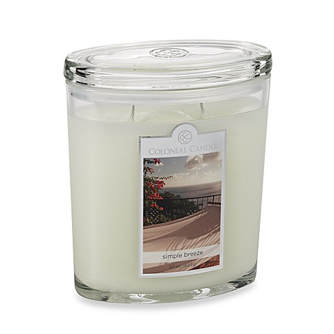 Colonial Candle® Simple Breeze Scented Candle in 22-Ounce Oval Jar Candle