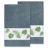 Linum Home Textiles Zoe Tropical Bath Towels in Teal (Set of 2)