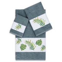 Linum Home Textiles Zoe 3-Piece Tropical Towel Set in Teal
