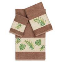 Linum Home Textiles Zoe 3-Piece Tropical Towel Set in Latte