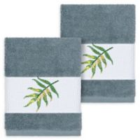 Linum Home Textiles Zoe Tropical Washcloths in Teal (Set of 2)