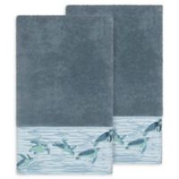 Linum Home Textiles Mia Sea Turtle Bath Towels in Teal (Set of 2)