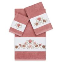 Linum Home Textiles Bella 3-Piece Seashell Towel Set in Tea Rose