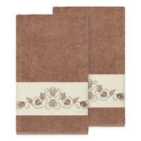 Linum Home Textiles Bella Seashell Bath Towels in Latte (Set of 2)