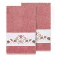Linum Home Textiles Bella Seashell Bath Towels in Tea Rose (Set of 2)