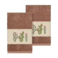 Linum Home Textiles Mila Hand Towels in Latte (Set of 2)