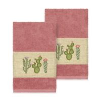 Linum Home Textiles Mila Hand Towels in Tea Rose (Set of 2)