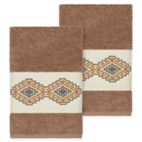 Linum Home Textiles Gianna Hand Towels in Latte (Set of 2)