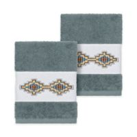 Linum Home Textiles Gianna Washcloths in Teal (Set of 2)