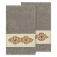 Linum Home Textiles Gianna Bath Towels in Dark Grey (Set of 2)