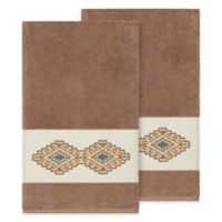 Linum Home Textiles Gianna Bath Towels in Latte (Set of 2)