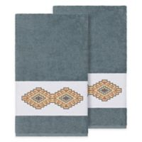Linum Home Textiles Gianna Bath Towels in Teal (Set of 2)