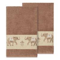 Linum Home Textiles Quinn Bath Towels in Latte (Set of 2)