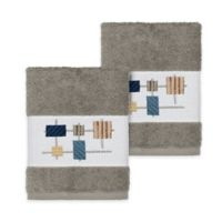 Linum Home Textiles Khloe Washcloths in Dark Grey (Set of 2)