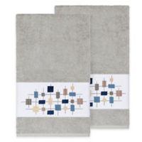 Linum Home Textiles Khloe Bath Towels in Light Grey (Set of 2)