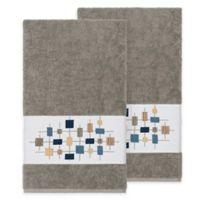 Linum Home Textiles Khloe Bath Towels in Dark Grey (Set of 2)