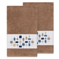 Linum Home Textiles Khloe Bath Towels in Latte (Set of 2)