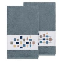Linum Home Textiles Khloe Bath Towels in Teal (Set of 2)