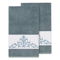 Linum Home Textiles Scarlet Crest Bath Towels in Teal (Set of 2)